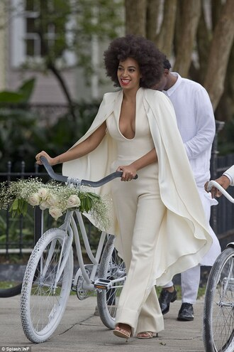 wedding clothes jumpsuit classy solange knowles celebrity style