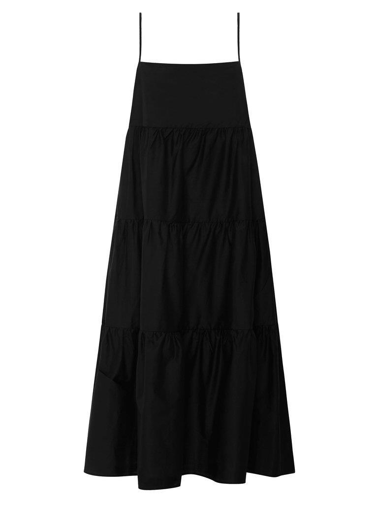 Long Tiered Sundress - Black
