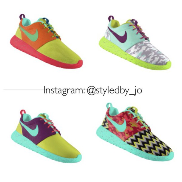 shoes nike roshes floral nike shoes women running shoes roshe runs