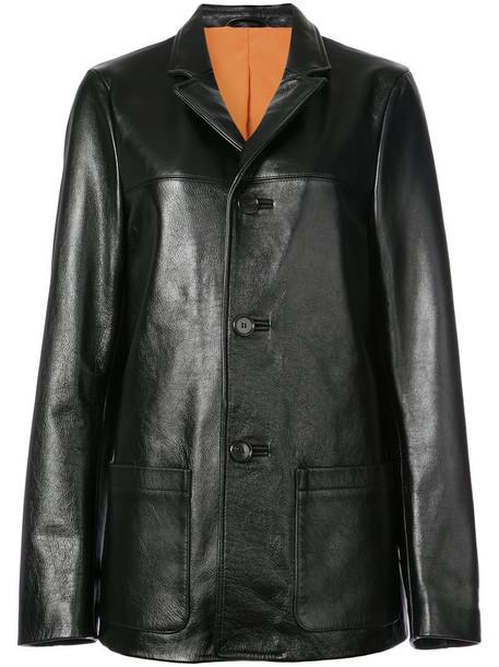 Heron Preston jacket women leather black