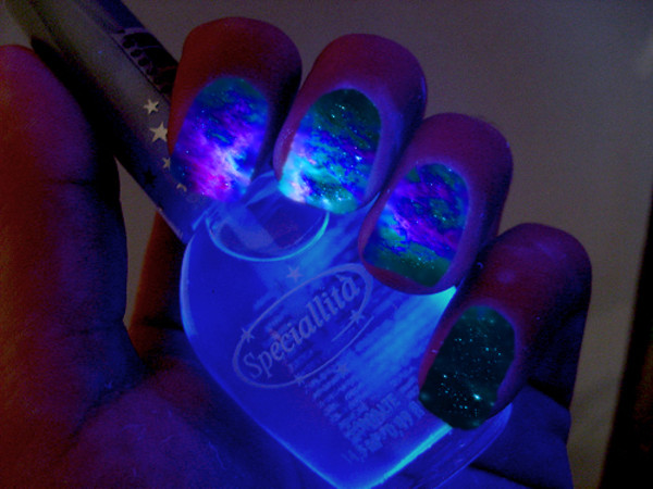 nail polish nails neon nail polish space glow in the dark