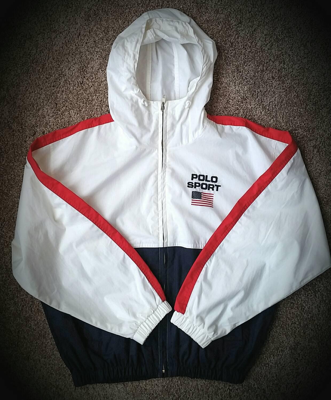 Vintage Polo Sport Ralph Lauren Windbreaker Jacket Size Medium