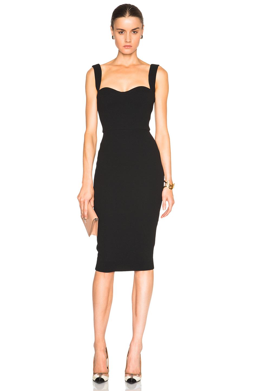 Saint Laurent Cutout Dress in Black   FWRD