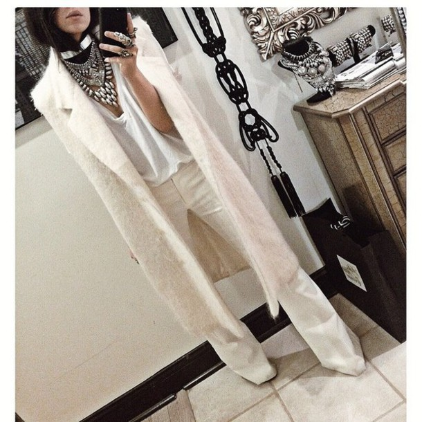 jacket style fashion white pants shoes jewels