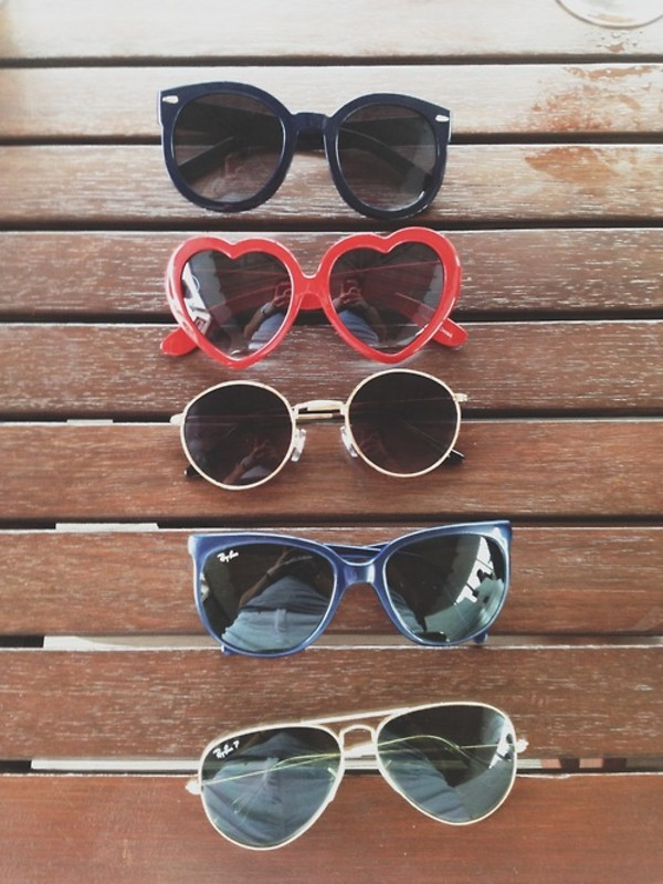 sunglasses blue black black sunglasses red heart sunglasses