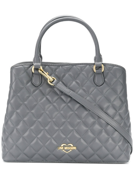LOVE MOSCHINO women quilted bag shoulder bag grey