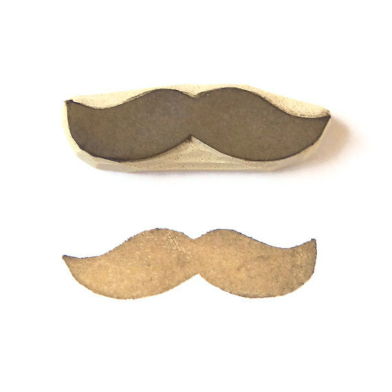 Mustache / moustache  rubber stamp  cling rubber by creatiate