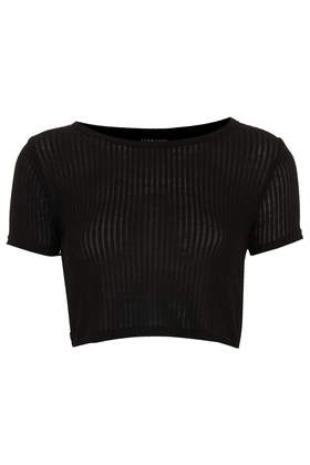 Skinny Rib Crop Tee - Crop Tops - Tops - Clothing- Topshop USA