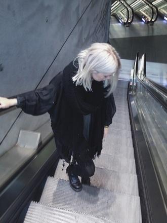 scarf black scarf jacket all black