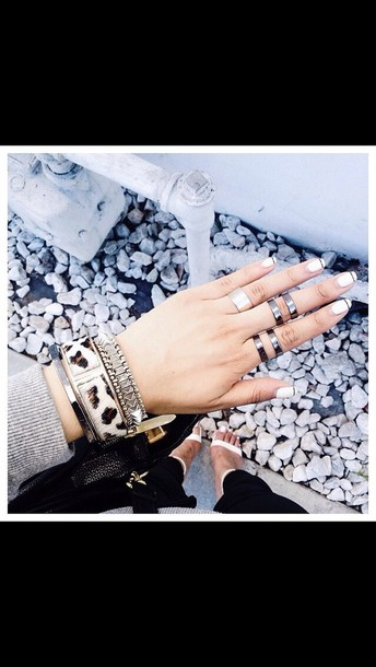 jewels bracelets knuckle ring jewelry silver ring