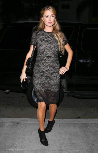dress lace dress paris hilton ankle boots