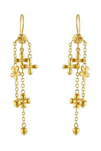 earrings gold earrings gold yellow jewels