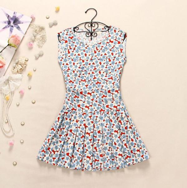 dress women floral flowers lovely fashion girl springsummer
