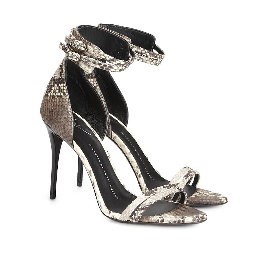 Giuseppe Zanotti Python Sandal - Shop Luxury Shoes | Editorialist
