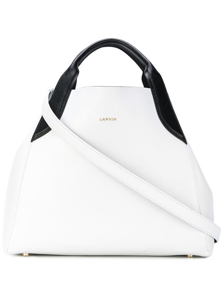 Lanvin - Cabas tote - women - Leather - One Size, White, Leather