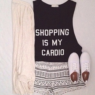 shorts black and white aztec cute spandex like nike shirt coat panter beautiful sneakers nike sneakers blouse top