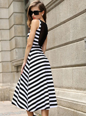 dress,fashion,ustrendy,chic,sexy,halter neck,stripes,splice,gauze,bqueen,gossip girl,sexy party dresses