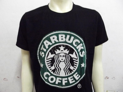 Starbuck screen black mens womens t shirt xl