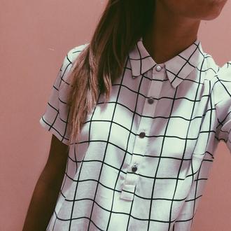 t-shirt blouse white black black and white