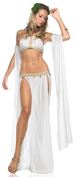 skirt top halloween halloween costume costume greek ancient greek vintage ancient greek fashion aphrodite aphrodite dress long-sleeve lace-godet jersey dress dress white dress godess of love angel angelic sequins gold sequins roman ancient rome