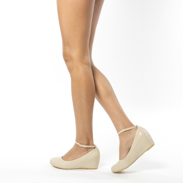shoes, nude, low wedges, mary jane