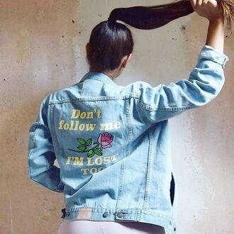 jacket yeah bunny denim rose cute flowers boho summer 36683 denim jacket summer outfits