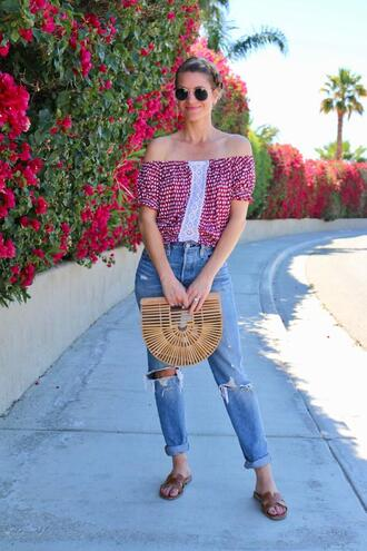 ashn'fashn blogger sunglasses top jeans bag shoes
