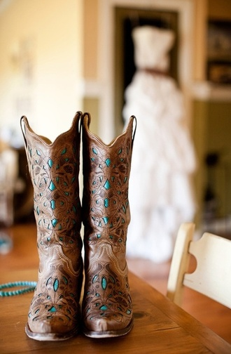 shoes boots cowboy boots turqouise