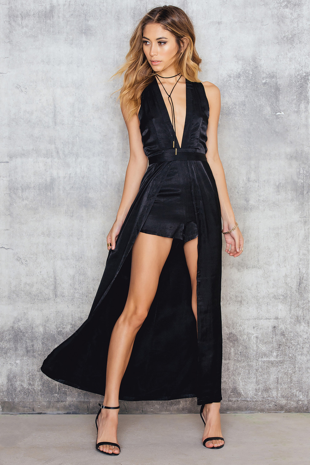 Luxe Fashion Label Lush Maxi Playsuit