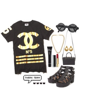 shirt coco chanel jersey gold and black chanel shirt coco chanel shirt sunglasses