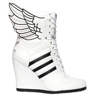 wedge sneakers jeremy scott adidas shoes white sneakers shoes