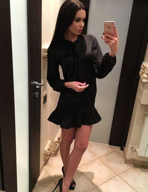 Women's Glamorous Frill Strict Mini Dress