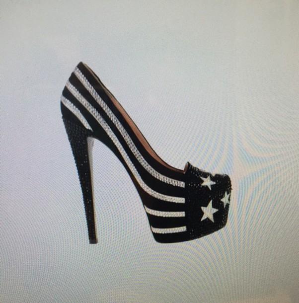 shoes american flag black shoes stars