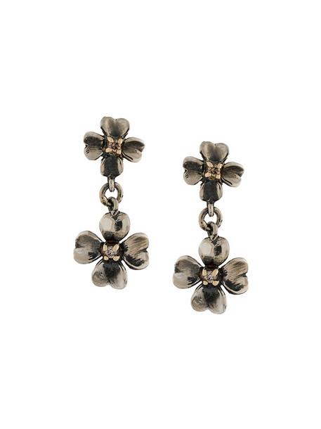 Ugo Cacciatori women earrings gold brown grey metallic jewels