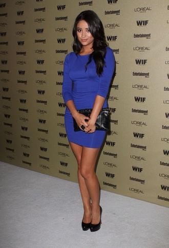 shay mitchell mini dress blue dress long sleeve dress