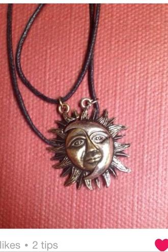 jewels sunglasses necklace boho jewellry jewellery black gold sunshine sun necklace boho style fashion style boho`` boho necklace
