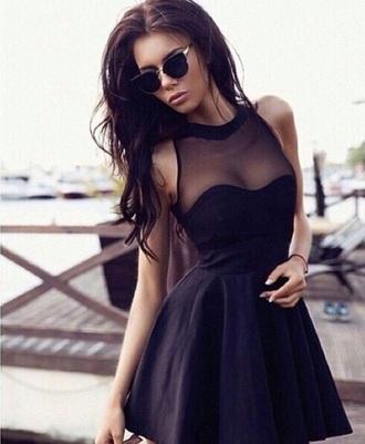 dress sexy beautiful girl class black