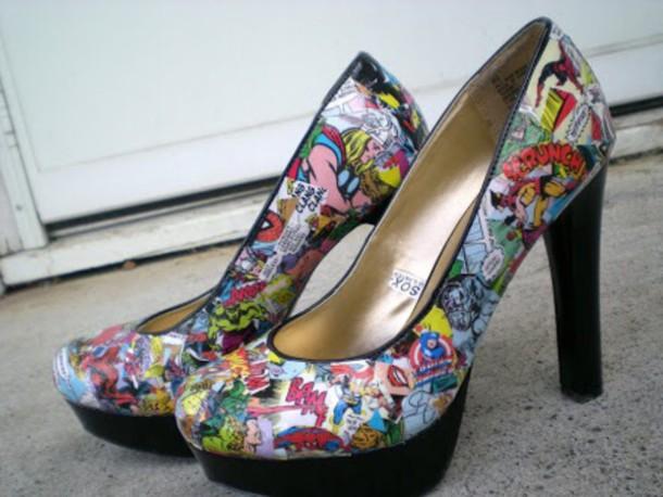 shoes marvel superheroes high heels