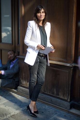 jacket boyfriend blazer blazer balmain emmanuelle alt