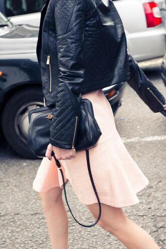 jacket skirt bag leather jacket