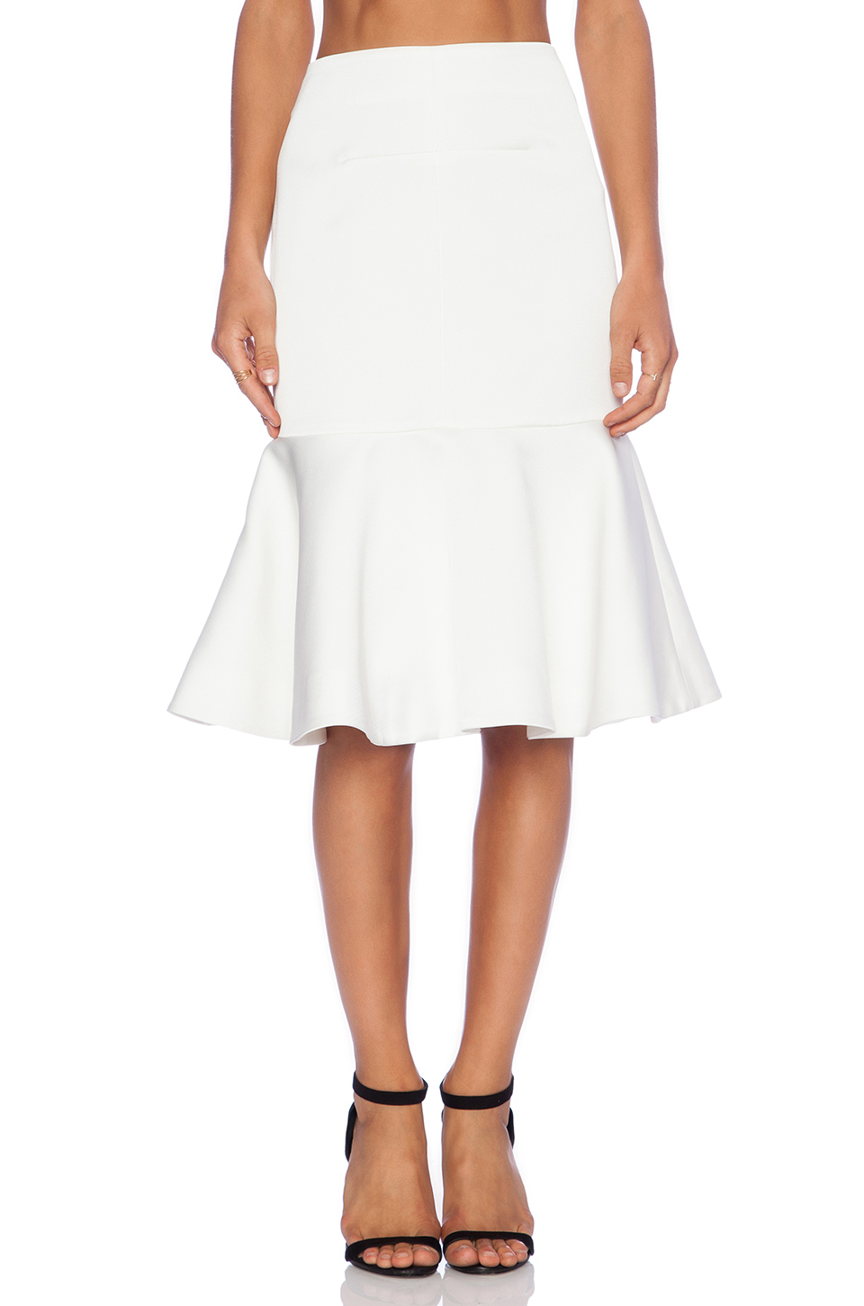 Cameo no diggity flare skirt in ivory from revolveclothing.com