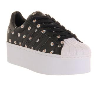 shoes adidas shoes adidas superstars platform shoes sunflower white black