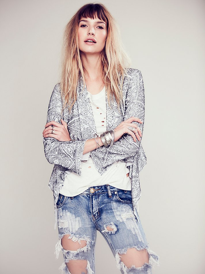Free People Lana Beaded Jacket