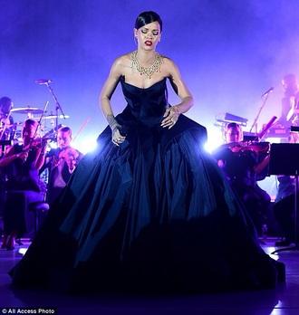 dress rihanna black dress ball gown dress
