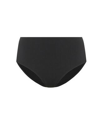 bikini bikini bottoms high black swimwear