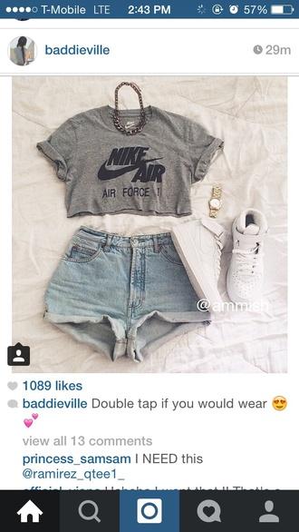 t-shirt grey t-shirt nike air nike