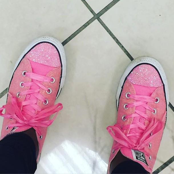 dbd6f40c58dd34 shoes custom converse by intellexual design glitter converse converse  glitter pink converse pink glitter custom converse