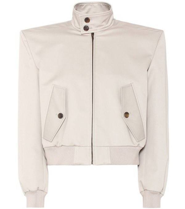 Balenciaga Boxy Harrington cotton jacket in beige / beige
