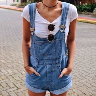 jeans grunge denim shorts overalls crop tops with overalls summer shorts