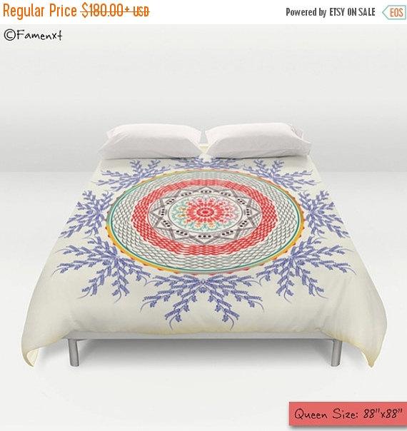 USD 10 OFF EVERYTHING Bohemian Duvet Cover, Decorative Boho Mandala, Indian Mandala Bedding, Home Interior Decoration